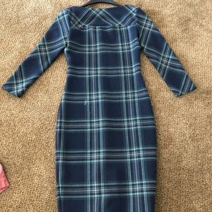 Zara plaid dress size small